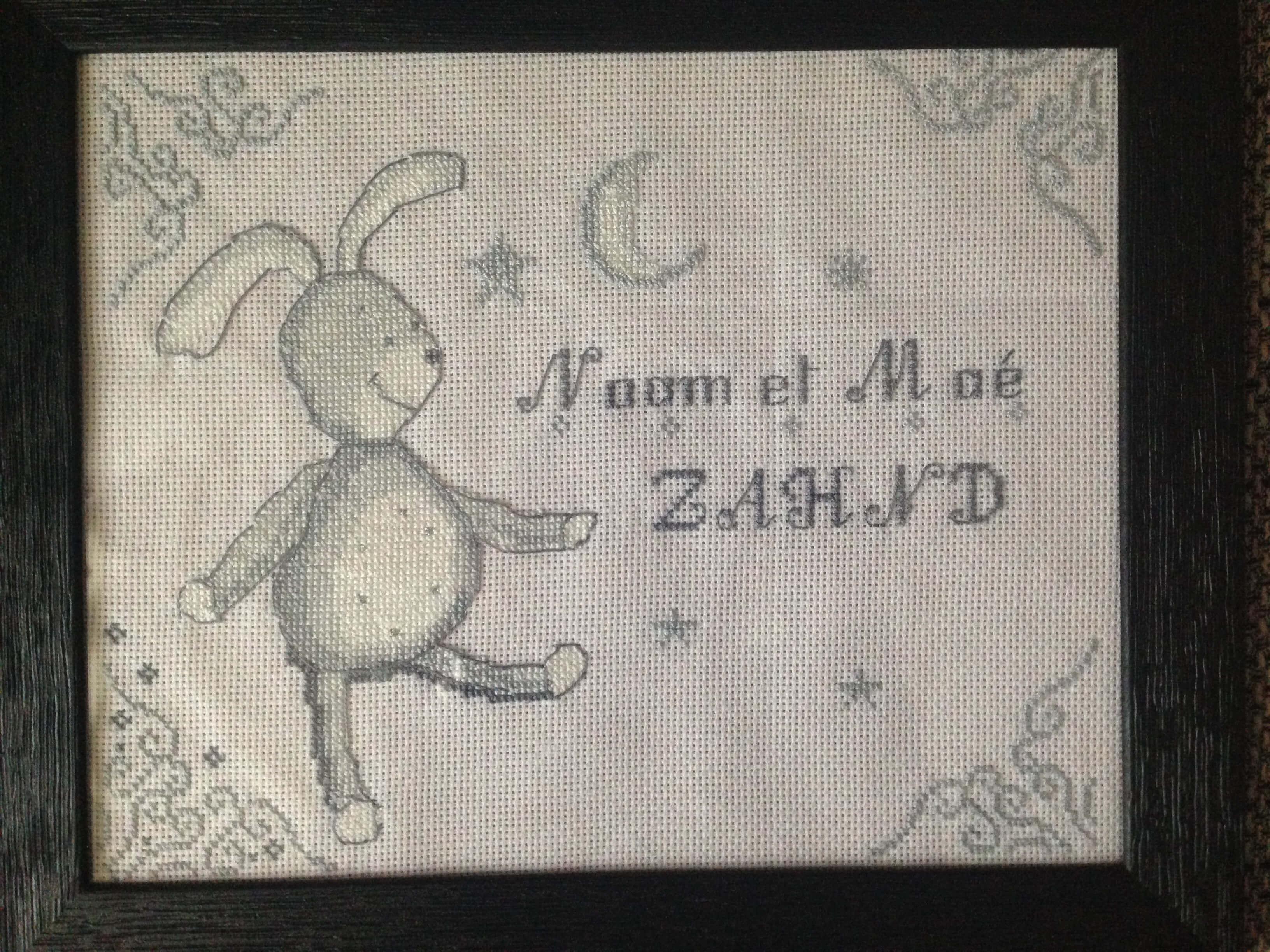 Tableau de naissance «Lapin»